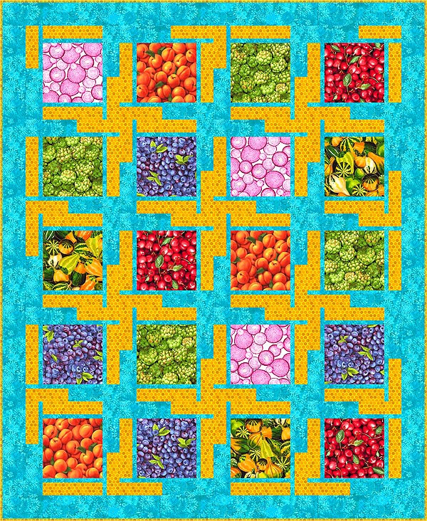 Free Quilt Pattern Farmers Summer Harvest Equilter Blogequilter