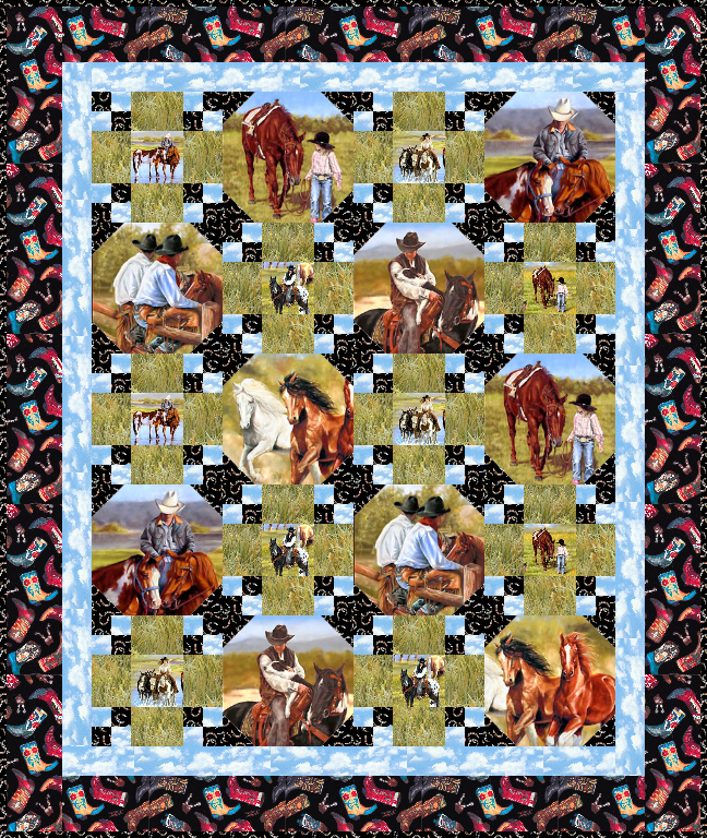 Free Quilt Pattern Saddle Up Equilter Blogequilter Blog