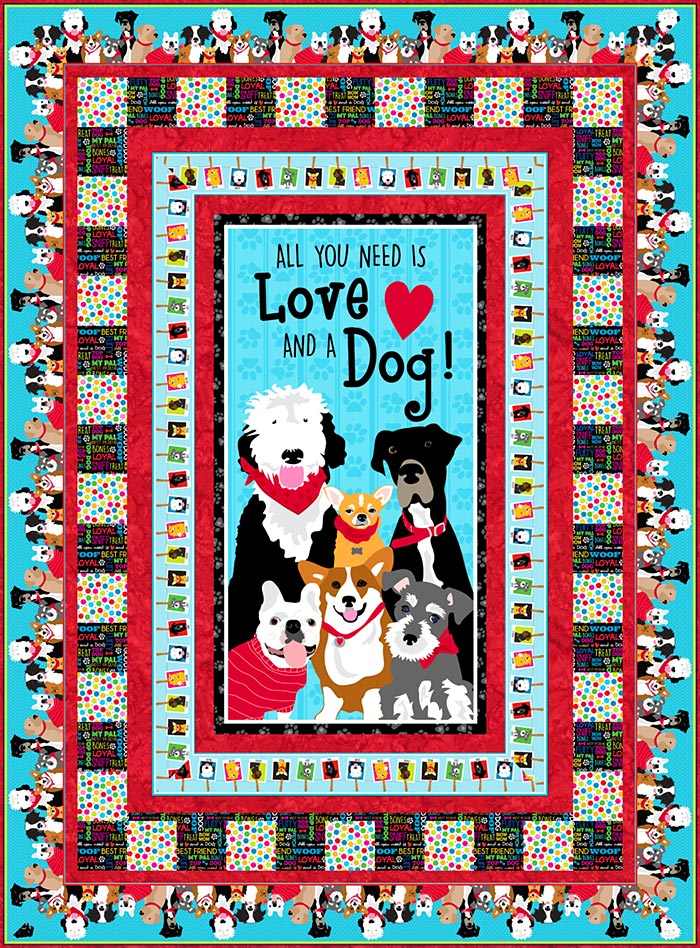 Free Pattern Must Love Dogs EQuilter BlogeQuilter Blog Stunning Dog Quilt Patterns
