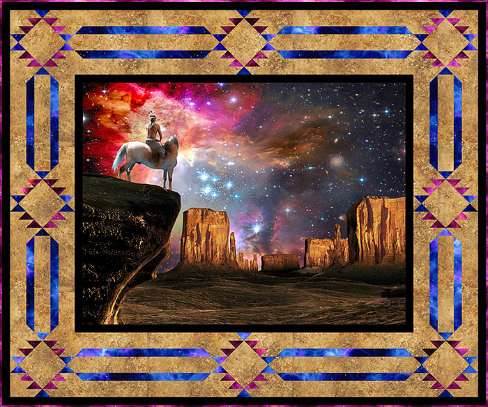 Free Pattern Native American Universe EQuilter BlogeQuilter Blog Mesmerizing Native American Quilt Patterns
